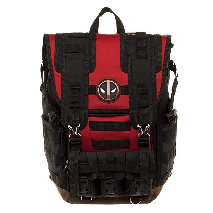 Marvel Deadpool Tactical Roll Top Backpack Standard