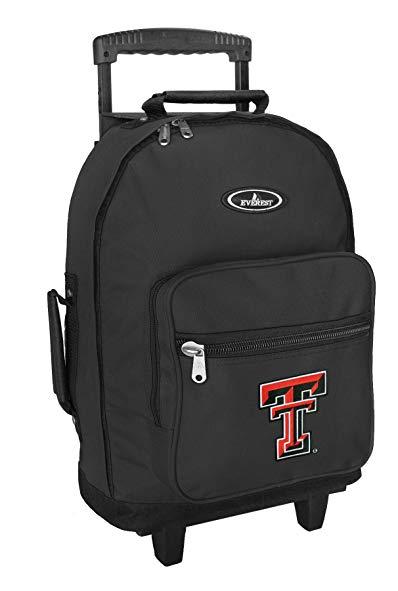 Texas Tech Rolling Backpack TTU Carryon Bag with Wheels