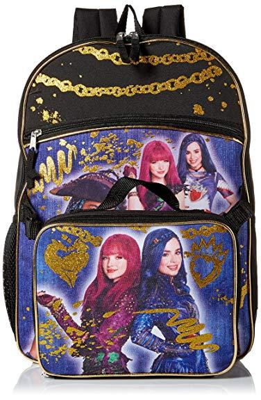 Disney Girls' Descendants Backpack with Lunch, Blue