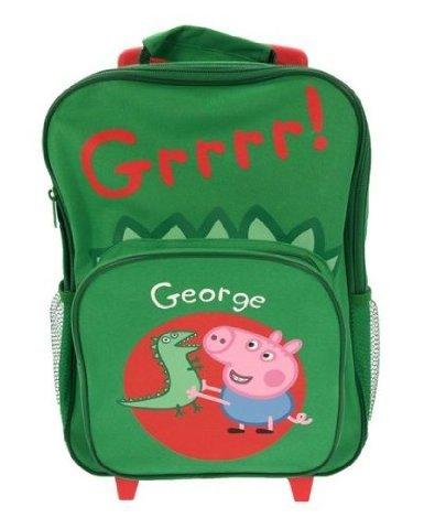 Peppa Pig Dino George Wheeled Trolley Backpack Bag