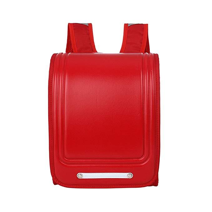 Japanese Primary and Secondary School Bag Children Backpack Burden Reduction Shoulderbag Shoulder Bag-Red