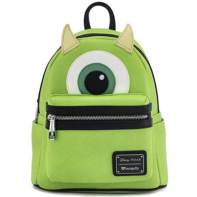 Loungefly Mike Wazowski Faux Leather Mini Backpack
