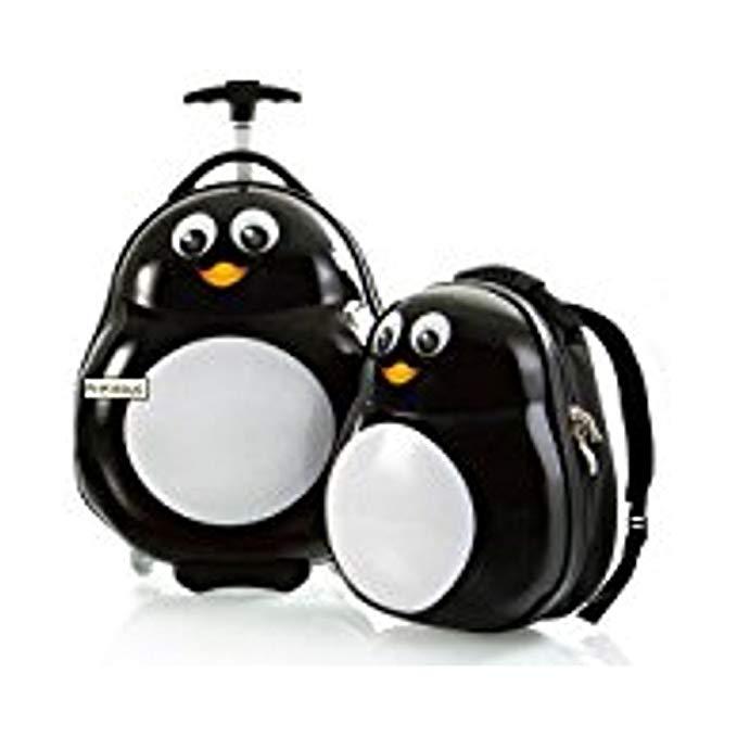 HEYS Kids 2Pc. Travel Tots (Penguin) Lightweight Luggage & Backpack Set
