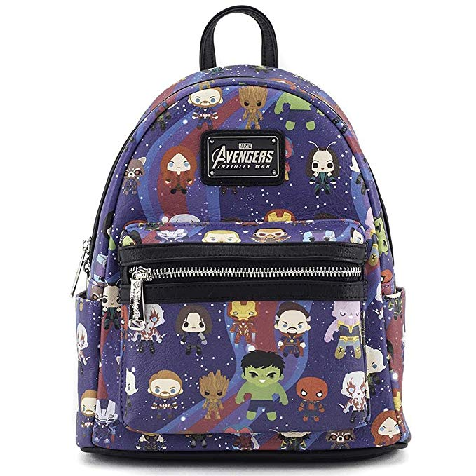 Loungefly x Avengers Chibi AOP Mini Backpack